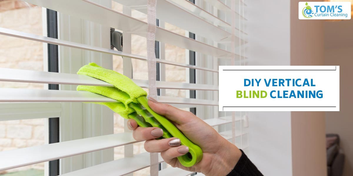 DIY Vertical Blind Cleaning