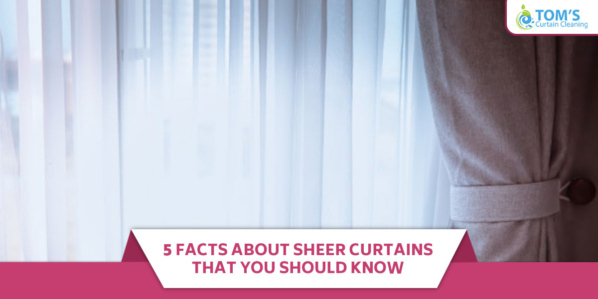 5 Facts About Sheer Curtains That You Should Know